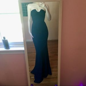 Lulus strapless long dress